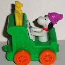 McDonald's 1994 Happy Birthday Train Peanuts Snoopy Happy Meal Toy Loose Used