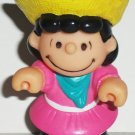 McDonald's 1990 Peanuts Lucy Figure Only Happy Meal Toy Loose Used