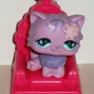 McDonald's 2008 Littlest Pet Shop Purple Persian KItten Happy Meal Toy Hasbro Loose Used