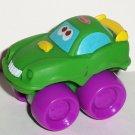 Playskool 2005 Wheel Pals Mini Green Muscle Car with Purple Wheels Loose Used