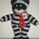 McDonald's 2004 Ty Teenie Beanie Babies Hamburglar the Bear Happy Meal Toy 25th Anniversary Loose