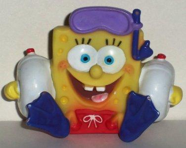 SpongeBob Squarepants Small Vinyl Water Squirter Bath Toy 2006 Loose Used