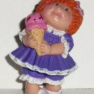 Cabbage Patch Kids 1984 Red Haired Girl with Ice Cream Cone & Purple Dress PVC Figurine Loose Used