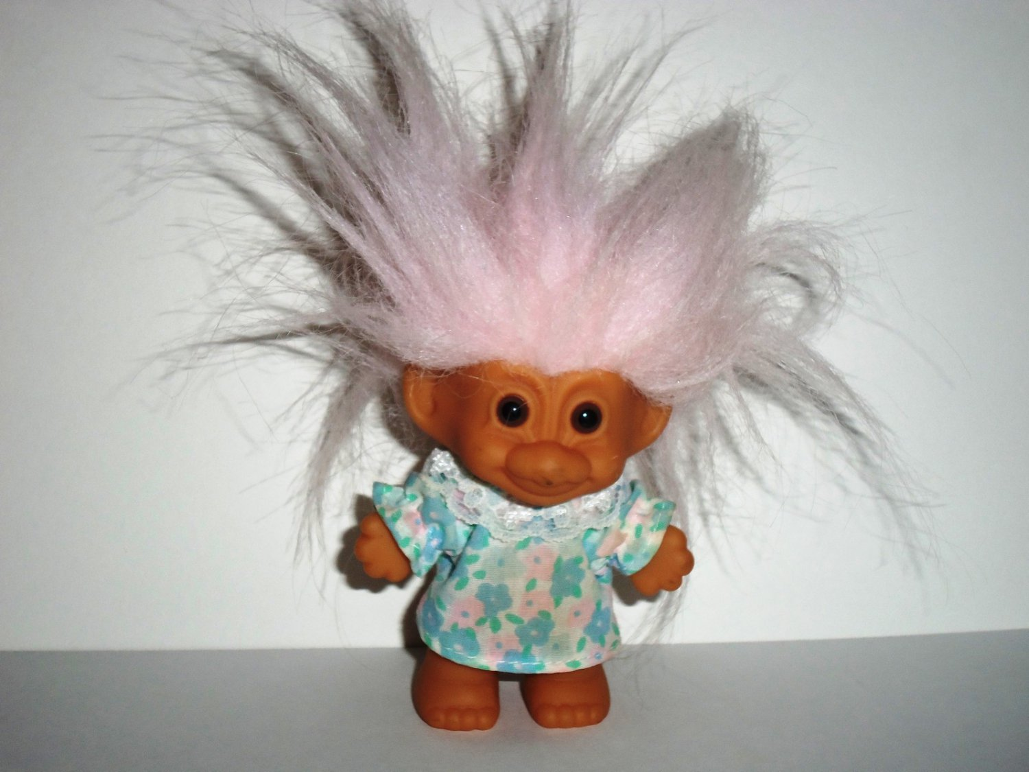 """Russ 3"""" Troll Happy Birthday Girl without Hat Loose Used"""
