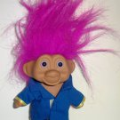 "T.N.T. 1991 5"" Troll with Light Purple Hair and Blue Outfit Doll No Clothes Loose Used"