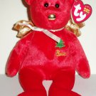 TY Beanie Babies Gift Peace Red Hallmark Gold Crown Exclusive w/ Swing Tag 2003 Loose Used