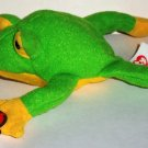 McDonald's 1999 Ty Teenie Beanie Babies Smoochy the Frog Happy Meal Toy Damaged Swing Tag Loose Used