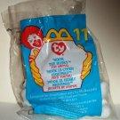 McDonald's 1999 Ty Teenie Beanie Babies #11 Nook the Husky Happy Meal Toy in Original Packaging