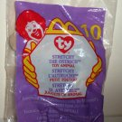 McDonald's 1999 Ty Teenie Beanie Babies Stretchy the Ostrich Happy Meal Toy in Original Packaging