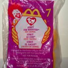 McDonald's 1999 Ty Teenie Beanie Babies Strut the Rooster Happy Meal Toy in Original Packaging