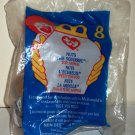 McDonald's 1999 Ty Teenie Beanie Babies Nuts the Squirrel Happy Meal Toy in Original Packaging