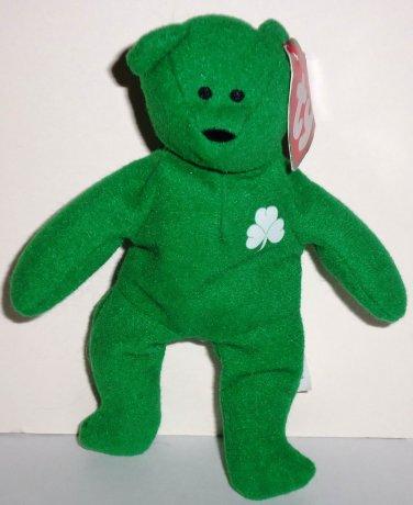 8c9e82e17e8 McDonald s 1999 Ty Teenie Beanie Babies International Bears Erin the Bear  Damaged Swing Tag Loose