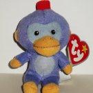 McDonald's 2009 Ty Teenie Beanie Babies Fez The Monkey Damaged Swing Tag Loose