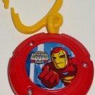 Burger King 2009 Marvel Super Hero Squad Iron Man Light-Up Unibeam Kids' Meal Toy Marvel Loose Used