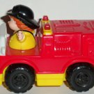 McDonald's 2004 Fisher-Price Little People Red Yellow Fire Truck U3 Happy Meal Toy Mattel Loose Used