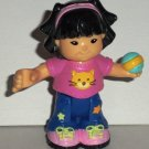 Fisher-Price Little People Sonya Lee with Ball Poseable Figure Loose Used