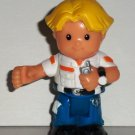 Fisher-Price Little People Eddie with Walkie Talkie Poseable Figure Loose Used