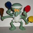McDonald's 2012 SpongeBob Squarepants Sport Toys Squidward Tennis Happy Meal Toy Loose Used