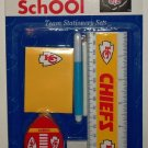 Custom Sports Inc. Kansas City Chiefs NFL Team Stationary Set Factory Sealed