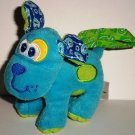 Infantino Blue & Green Barking Dog Baby Toy with Strap Loose Used