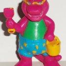 Barney the Dinosaur Bathing Suit Shovel Pail PVC Figure Unique 1993 Loose Used
