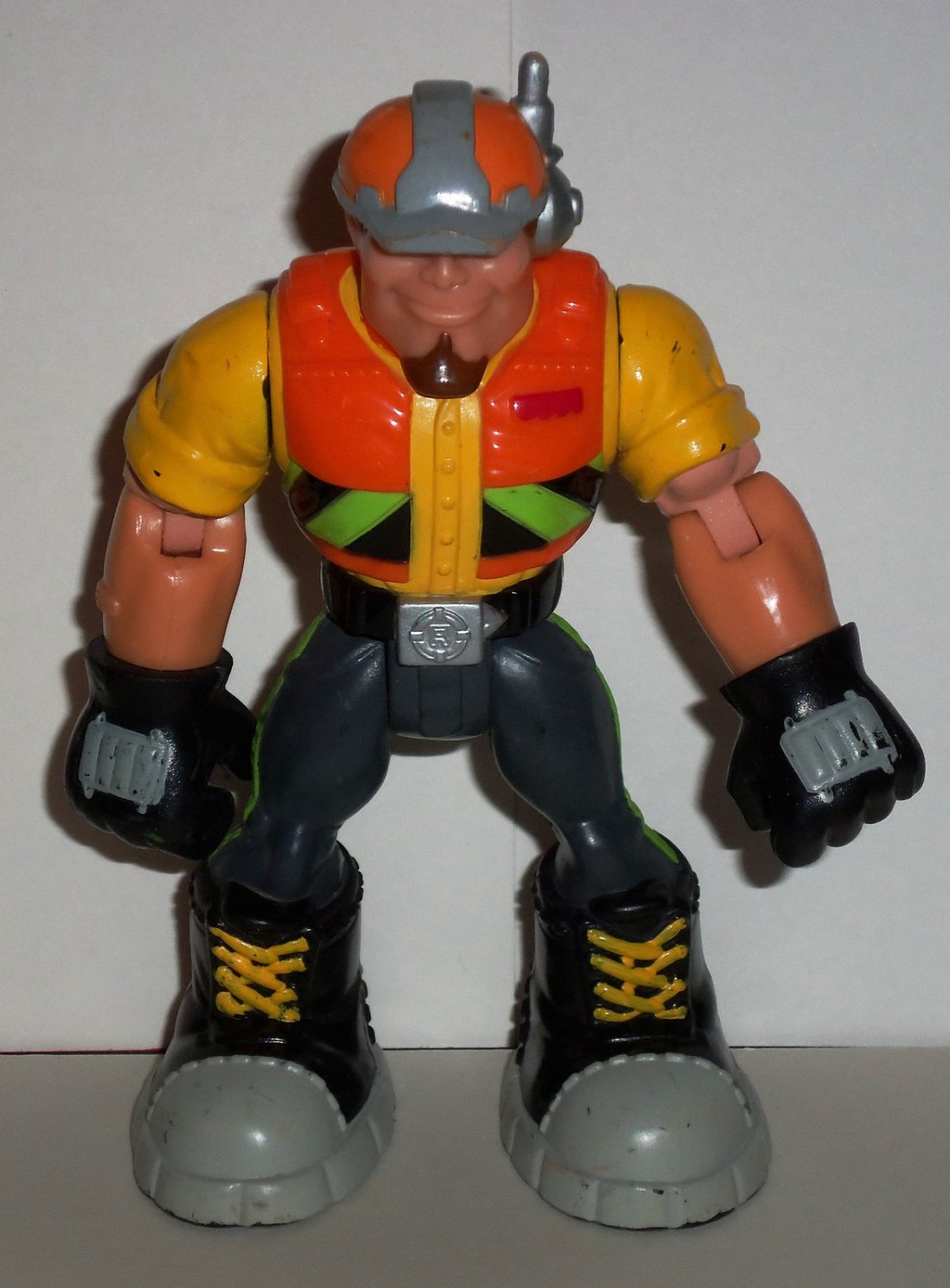 Fisher-Price G6546 Rescue Heroes Rip Rockefeller Action Figure Mattel Loose Used
