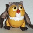 McDonald's 1988 Disney Bambi Friend Owl PVC Figure Loose Used