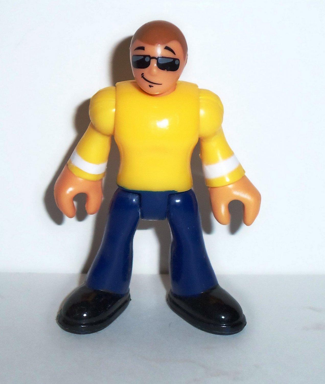 With blue pants yellow shirt Men's Yellow