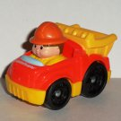 Fisher-Price #T5630 Little People Wheelies Dump Truck 2009 Mattel Loose Used