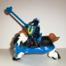 Fisher-Price Black Knight Figure & Horse from Great Adventures Jousting Knights Playset Loose Used