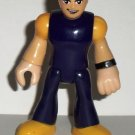 Fisher-Price Imaginext Man with Purple Yellow Outfit Action Figure Loose Used
