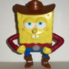 Burger King 2005 SpongeBob Squarepants Cowboy Spongebob Kids' Meal Toy Loose Used
