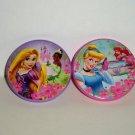 Disney Princess Set of 2 Spinning Tops Cinderella Little Mermaid Loose Used