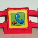 Fisher-Price Little People Red Fence Piece with Phone Litho Loose Used