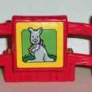 Fisher-Price Little People Red Fence Piece with Kangaroo Litho Loose Used