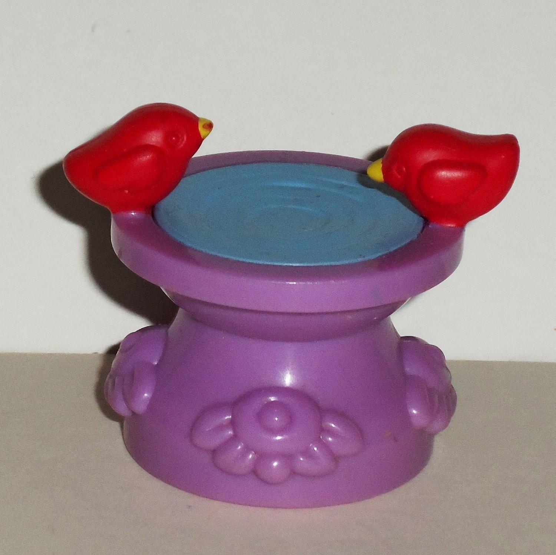 Fisher-Price Little People Purple Bird Bath from Sweet Garden Set 77713 Loose Used