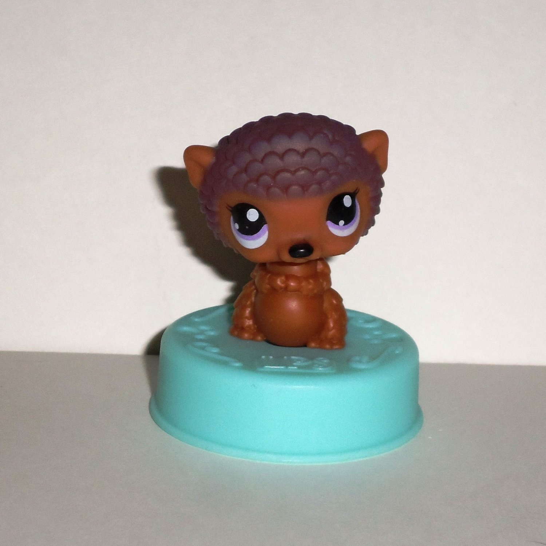 McDonald's 2006 Littlest Pet Shop Brown Hedgehog Figure Happy Meal Toy Hasbro Loose Used