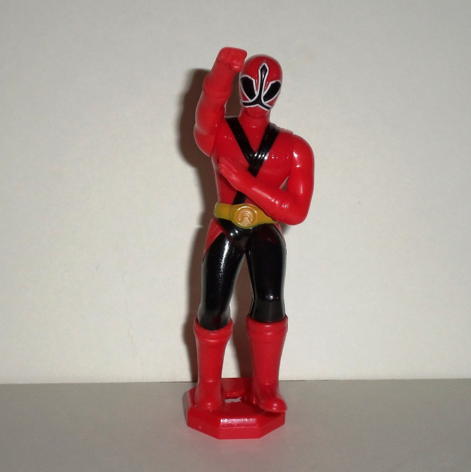 McDonald's 2011 Power Rangers Samurai Red Ranger without Base Happy Meal Toy Loose Used