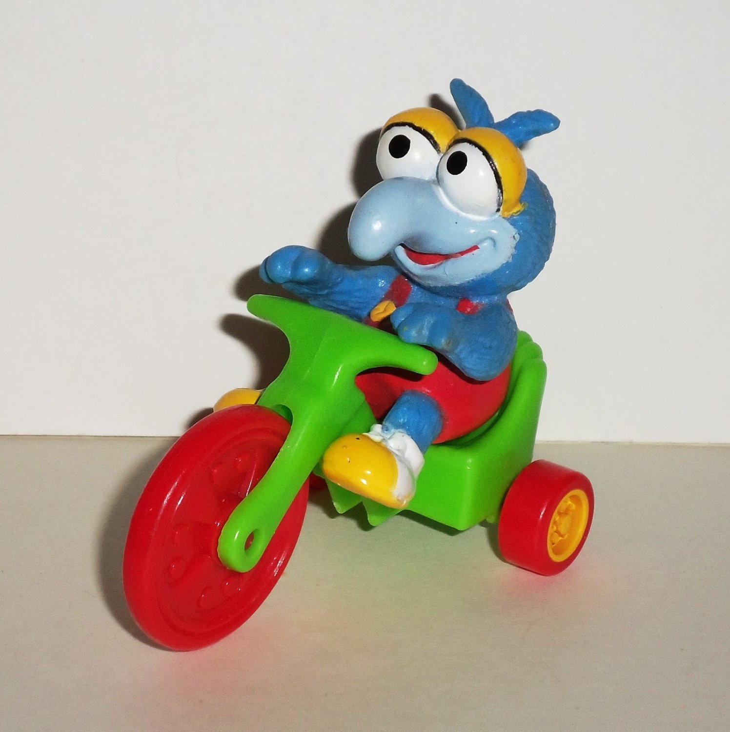 McDonald's 1986 Muppet Babies Gonzo on Green Big Wheel Happy Meal Toy Loose Used