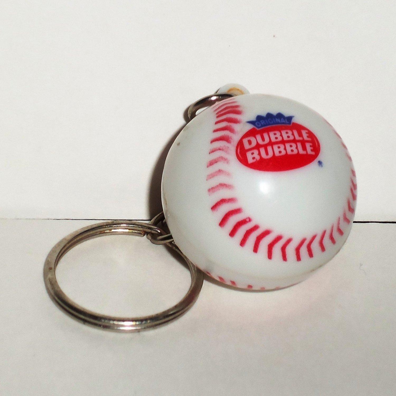 Dubble Bubble Plastic Mini Baseball Keychain Loose Used