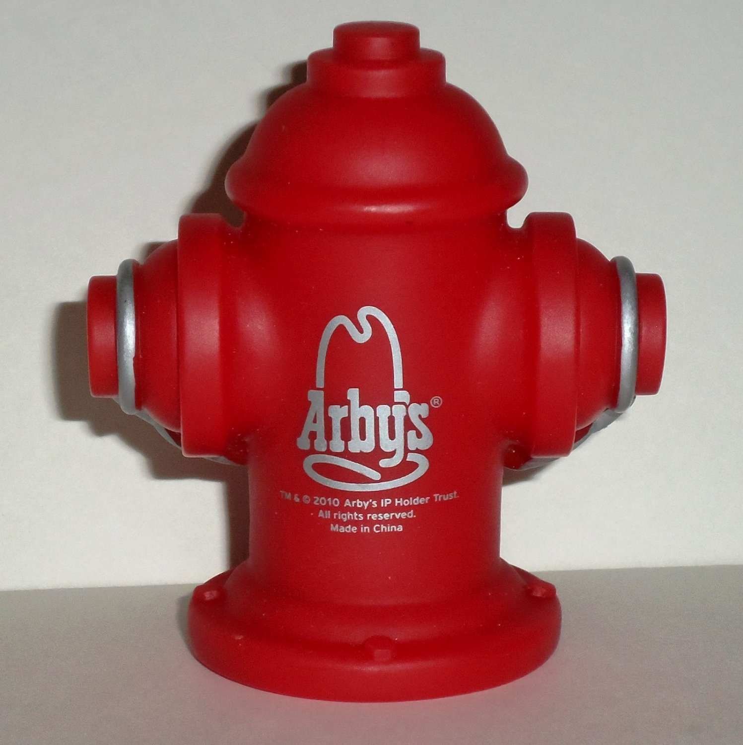 Arby's 2011 Fire Department Hydrant Squirter Kids Meal Toy Loose Used