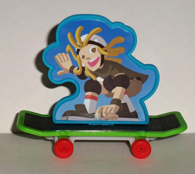 Wendy's 2012 Leapfrog Leapschool Qik's Skateboard Kids Meal Toy Loose Used
