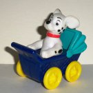 McDonald's 1996 Disney's 101 Dalmatians Dog in Blue Baby Carriage Happy Meal Toy Loose