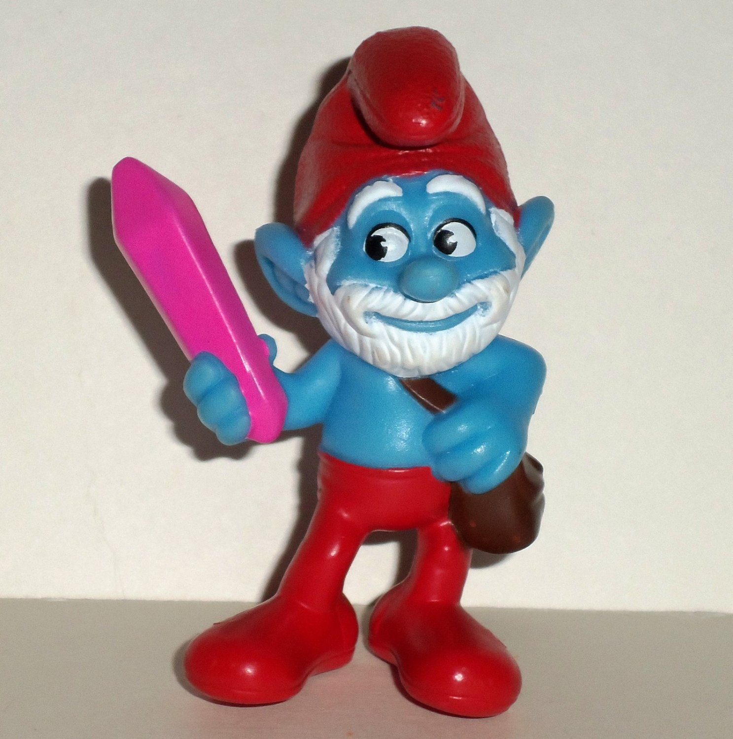 Mcdonald S Happy Meal Toys 2013 : Mcdonald s smurfs papa crystal pvc figure happy