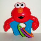 Baby King Sesame Street Beginnings Elmo Rattle with Rings Loose Used