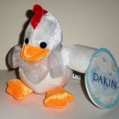 Dakin Iced Velvet Animals Chicken Plush Stuffed Animal Toy with Tags Loose Used