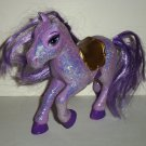 Barbie and the Three Musketeers Purple Sparkle Horse Mattel l2008 Loose Used