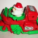 Santa Claus on Three Wheel Motorcycle Wind-Up Toy Loose Used