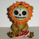 Furrybones Raion Resin Figurine Damaged Lion Skull Zombie Loose Used