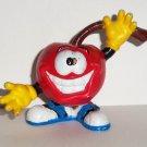 PFP 1988 Smiling Apple Guy PVC Figure Loose Used